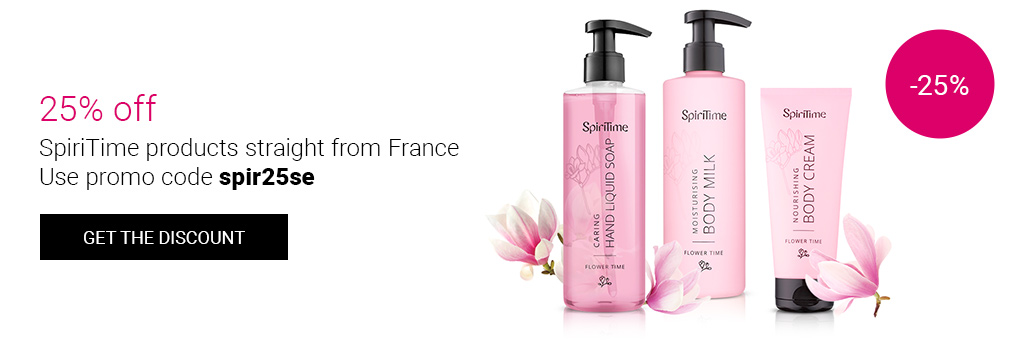25% off SpiriTime products from France! Use promo code spir25gb!
